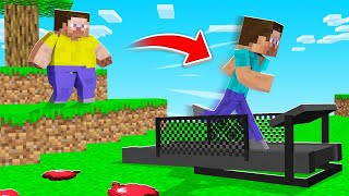 Minecraft BUT RUNNING = WEIGHT LOSS! (impossible)