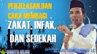 Penjelasan dan Cara Membagi Zakat, Infak, Sedekah - Ustadz Abdul Somad, Lc. MA