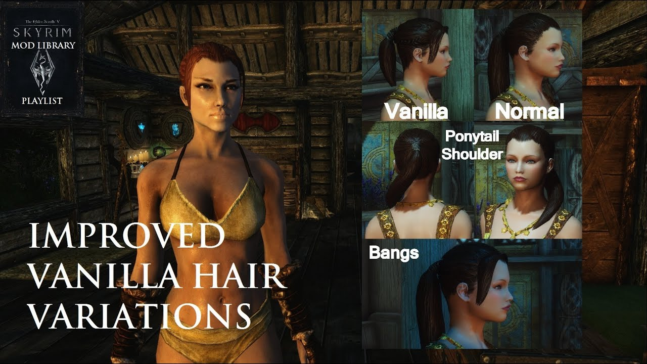 Improved Vanilla Hair Variations Skyrim Mod Library Youtube | Beauty