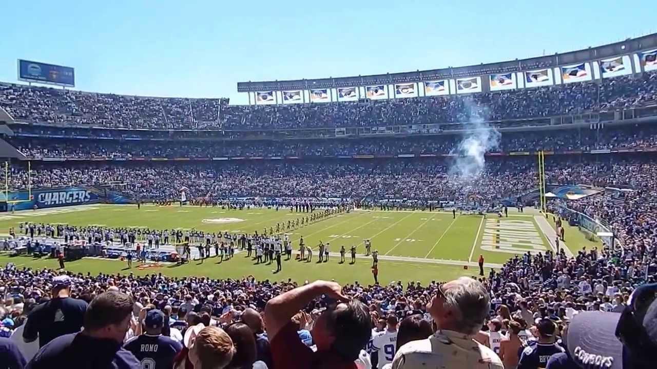 The National Anthem (Sept.29,2013 @Qualcomm Stadium ... Qualcomm Stadium Chargers