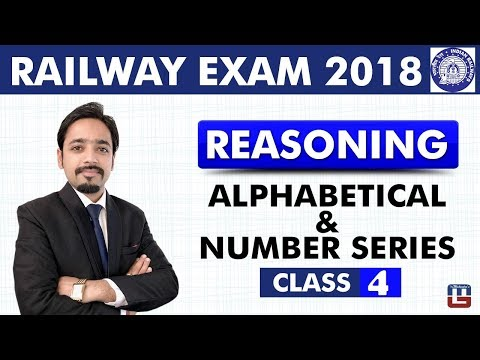Alphabetical & Number Series | Reasoning | Class - 4 | RRB | Railway ALP / Group D | 8 PM