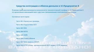 Новый WEB-курс «Средства интеграции и обмена данными «1С:Предприятие 8»