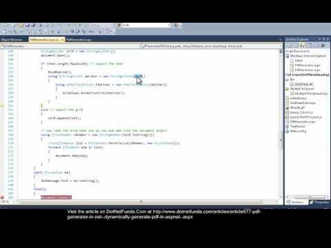 pdf generator in .NET - Dynamically generate .pdf in ASP.NET
