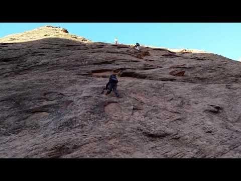 Climbing out Coyote Gulch via Jacob's Hamblin