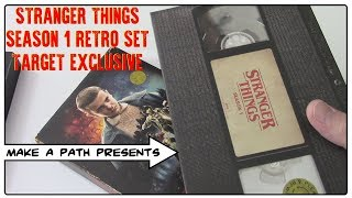 STRANGER THINGS BLU RAY SEASON 1 RETRO TARGET EXCLUSIVE NETFLIX