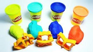 Making Butterfly, Teddybear, Rabbit Play-doh Learning Fun for Kids