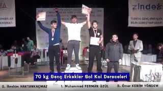 Türkiye Bilek Güreşi Şampiyonası 2014 (Genç Erkekler)