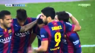 Barcelona vs Getafe 6 0 All Goals 28-04-2015 - English