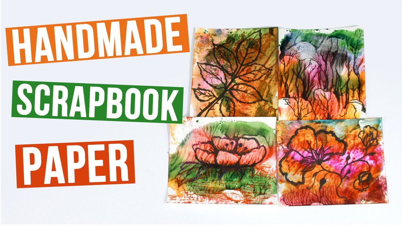 How to make scrapbook paper designs - How To Make Scrapbook Paper Soap Watercolor Printing