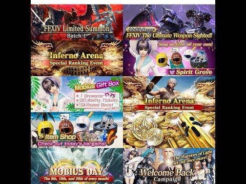 Mobius Final Fantasy Indonesia - Quick Review June Update and Summoning New Jobs