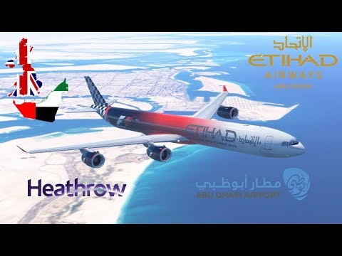 Infinite Flight GLOBAL: Abu Dhabi (AUH) To London (LHR) | TIMELAPSE | Etihad Airways | Airbus A340