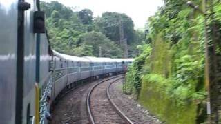 West Bengal Sampark Kranti Express crosses the Chhota Nagpur Hills between Gaya and Koderma