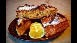 Пирог-ГОСТИ НА ПОРОГЕ вкусно легко быстро 25 мин Мандарин Яблоко цедра Лимона Корица Шарлотка