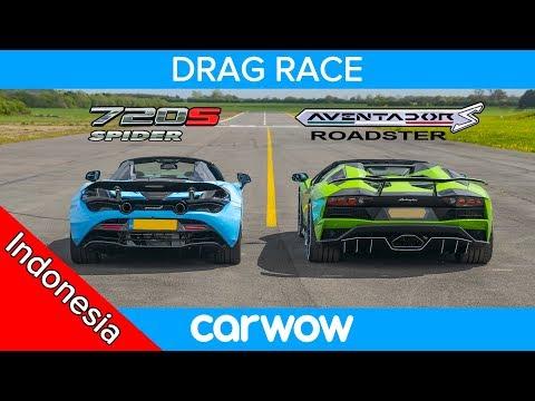 Lamborghini Aventador S Roadster vs McLaren 720S Spider – DRAG RACE, ROLLING RACE & TES PENGEREMAN