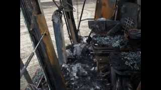 wypadki przy pracy 02 maszyny rolnicze, ciagniki, zakopane, spalone