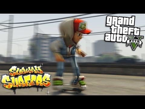 GTA 5 Mods - JAKE FROM SUBWAY SURFERS MOD (GTA 5 Mods Gameplay)