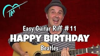 Happy Birthday (Beatles) Riff #11 Acoustic Guitar Lesson