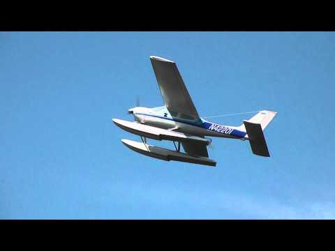 RC Cessna 177 Cardinal Arc Fly Model Good Landing Hard Stop 00109