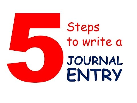 How to Write a Journal Entry in 5 Steps