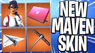 NOVO pacote de SKIN MAVEN no Fortnite Battle Royale! -Fortnite Maven Skin no jogo (New Fortnite Skin)