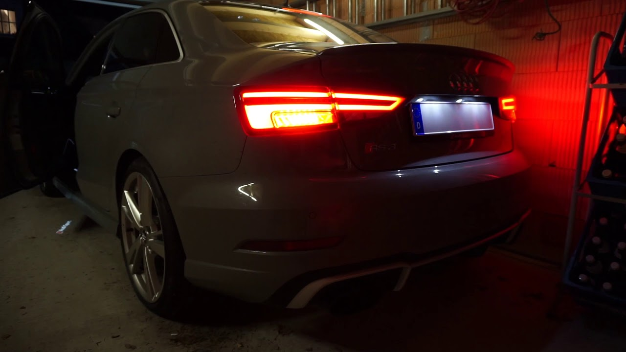 2018 Audi RS3 Limousine Sedan 400 HP Cold Start - YouTube
