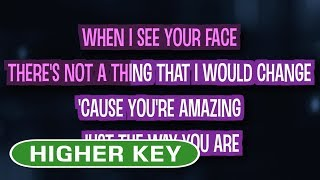 Just The Way You Are (Karaoke Higher Key) - Bruno Mars
