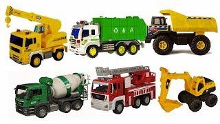 Trucks for kids   Truck videos for kids   Fire Truck, Excavator   Cars toys videos for kids