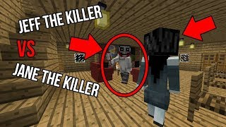 I SUMMONED Jane the Killer to fight Jeff the Killer in Minecraft (SCARY Minecraft Creepypasta Video)