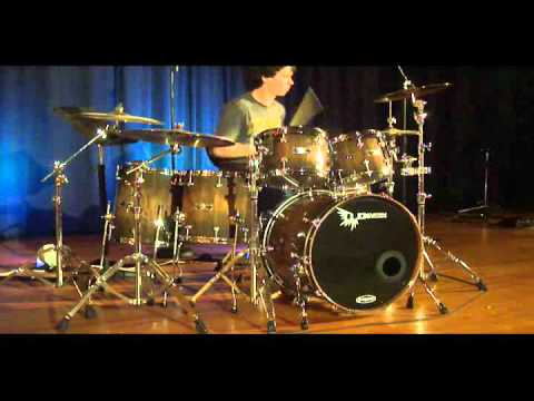 hd custom drums walnut stave drum set demo tuned low and fat youtube. Black Bedroom Furniture Sets. Home Design Ideas