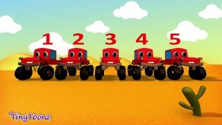 Counting 1 to 5 | Counting with Monster Trucks | Counting Five Numbers