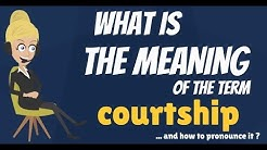 What is COURTSHIP? What does COURTSHIP mean? COURTSHIP meaning, definition & explanation