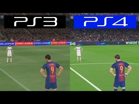 Pro Evolution Soccer 2018 PES | PS4 VS PS3 | Graphics Comparison
