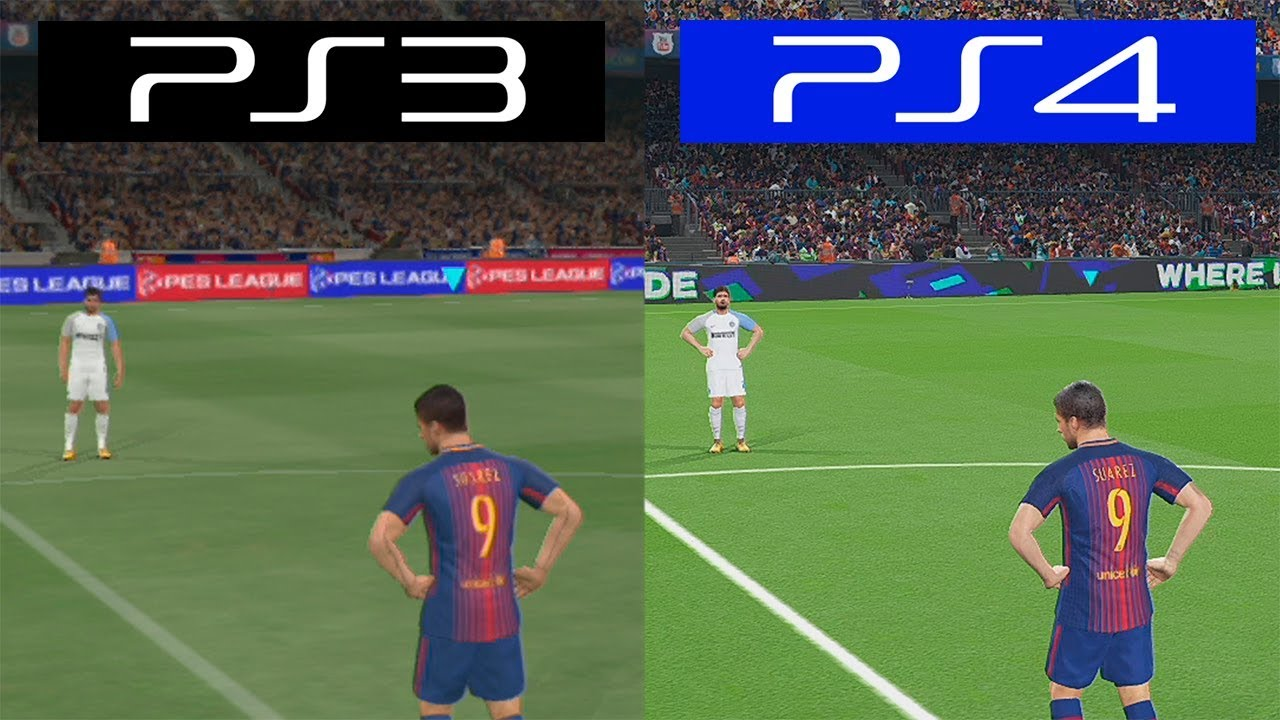Pro Evolution Soccer 2018 Pes Ps4 Vs Ps3 Graphics Comparison