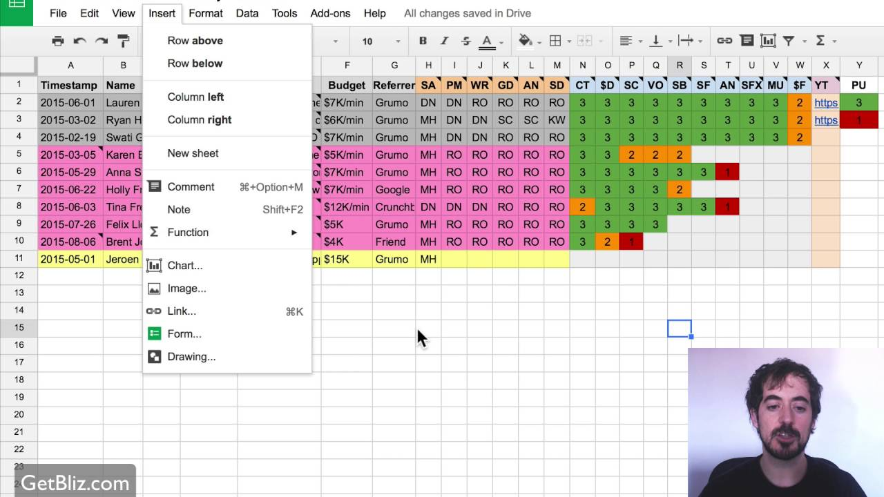 how to do project management with google sheets youtube