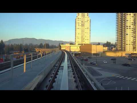 Vancouver SKYTRAIN: EVERGREEN EXTENSION EASTBOUND Production Way-University to Lafarge Lake-Douglas