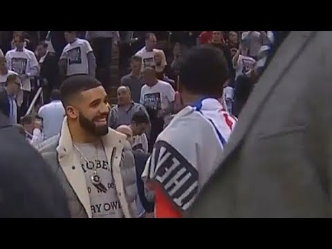 Drake TRASH TALKS JOHN WALL DURING THE GAME! Raptors vs Wizards