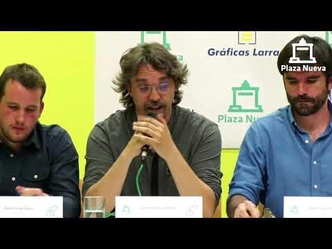 El debate de Plaza Nueva: Daniel López Córdoba (Podemos) pide el voto a la ciudadanía de Tudela