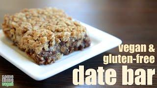 Date Bar (vegan & Gluten-free) Something Vegan