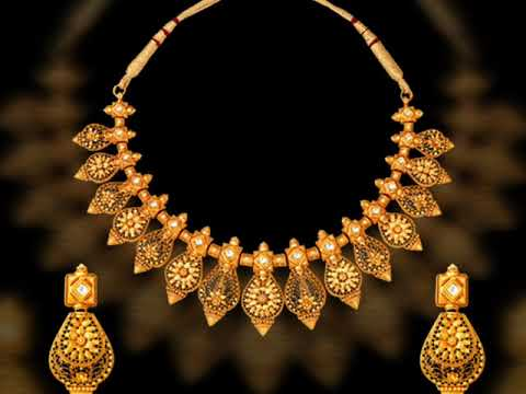 Latest antique gold necklaces by Tanishq #Antique #Gold #necklaces