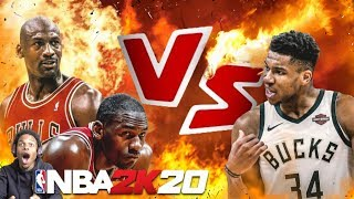 NBA 2K20 GIANNIS IS INSANE!! MICHAEL JORDAN vs GIANNIS ANTETOKOUNMPO