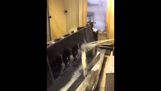 Texas Speed & Performance CNC Machines First 6.2L LT4 Cylin