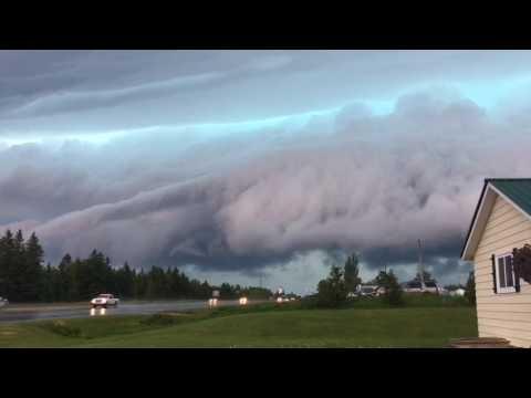 Storm clouds roll in near Mackinac Bridge
