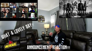 Zack Snyder's Justice League Announcement Reaction!!!