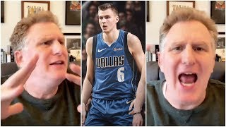 Michael Rapaport reacts to the Knicks trading Kristaps Porzingis to Dallas