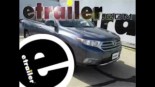 Review of the WeatherTech Front Floor Mats on a 2013 Toyota Highlander - etrailer.com