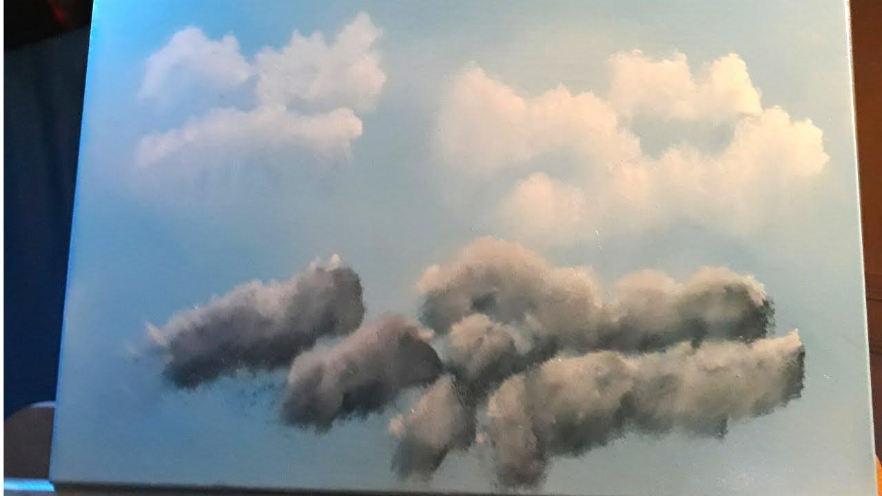 Tutoriel Comment Peindre Un Ciel Et Des Nuages Peinture A L Huile Youtube