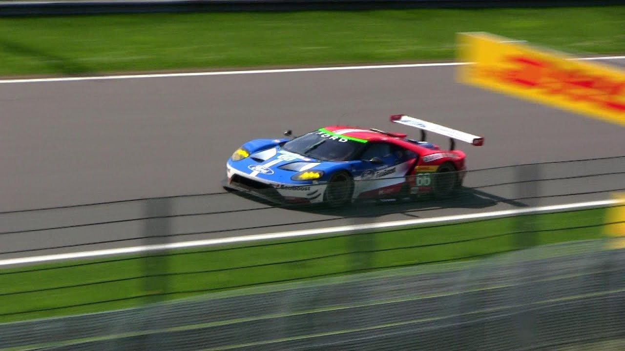 New Ford Gt Le Mans Race Car In Action Youtube