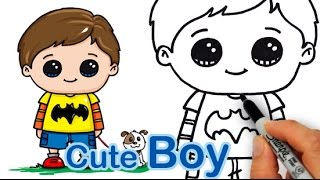 boy drawings drawing kid draw cartoon easy boys stuff faces fun adorable