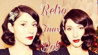 1920s Retro Faux Bob. Как сделать Ретро Боб на длинных волосах