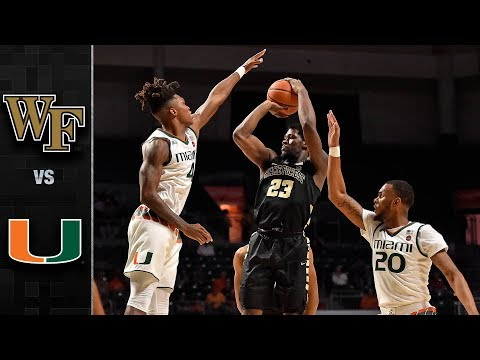 Wake Forest vs. Miami Basketball Highlights (2017-18)